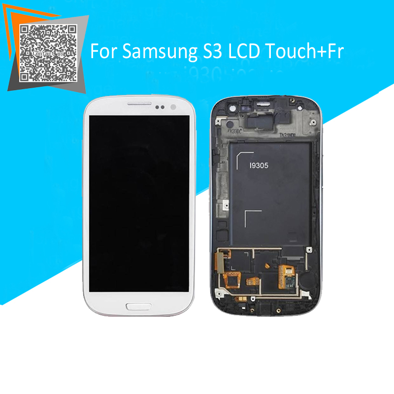 NEW Original for Samsung Galaxy S3 i9305 GT-i9305 Full LCD Display Touch Screen Digitizer Full Assembly with Frame White/Blue