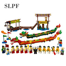 Toys For Children Dragon Boat Race Model Suite Compatible Legoing Kids Educational Assembled DIY Building Block Brick Toy I62 lepin block creator sopwith camel fighter model set plane toy compatible with 10026 kids gifts for children educational 21021