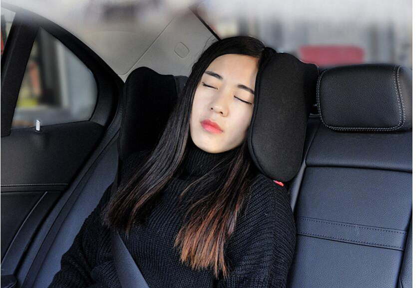 2018 car headrest neckrest pillow pair seat lumbar set memory foam child car sleep pillow