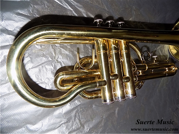 Купить с кэшбэком Bb Cornet trumpet Brass musical instruments with Hard Case and mouthpiece Lacquer Trompeta