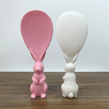 Cute Cartoon Peter Rabbit Rice Spoon Non Sticky Vertical Stand Scoop Soup Sauce Ladle Kitchen Tool Dinner  2019
