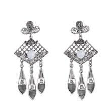 Fashion Personality Bohemia Beads Crystal Rhinestone Tassel Dangle Earrings Vintage Ethnic Jewelry Gift For Women