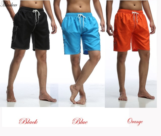 Milankerr Summer Men Beach Board Shorts Mens Short Casual Board Wear Swimwear Beach Solid Color Brand Trunk Quick-drying Short