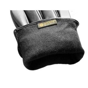 Image 5 - Luvas de couro genuíno, luvas masculinas de couro com veludo fino, tendência de moda para dirigir nm792b
