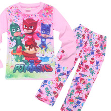 Kids Girls Pijamas Sets Princess Pyjamas Children's Pajama Infantil Sleepwear Home Clothing Baby boys mask spiderman clothes 3-8