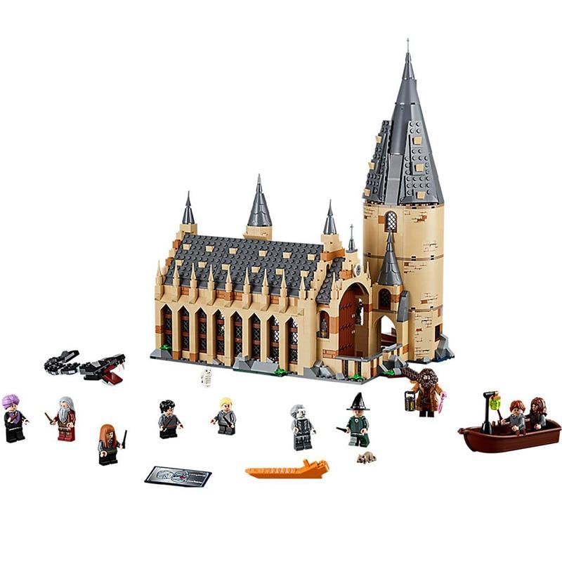 Nouveau Harri Potter Poudlard Grande Salle Compatibilité Legoing Harry Potter 75954 Blocs de Construction Briques Jouets De Noël Cadeaux