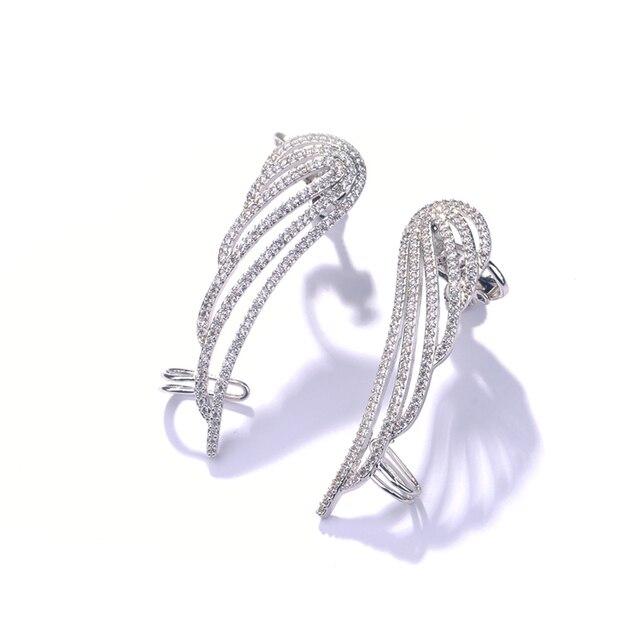 Женские сверкающие серьги манжеты hiневесты с микро фианитом
