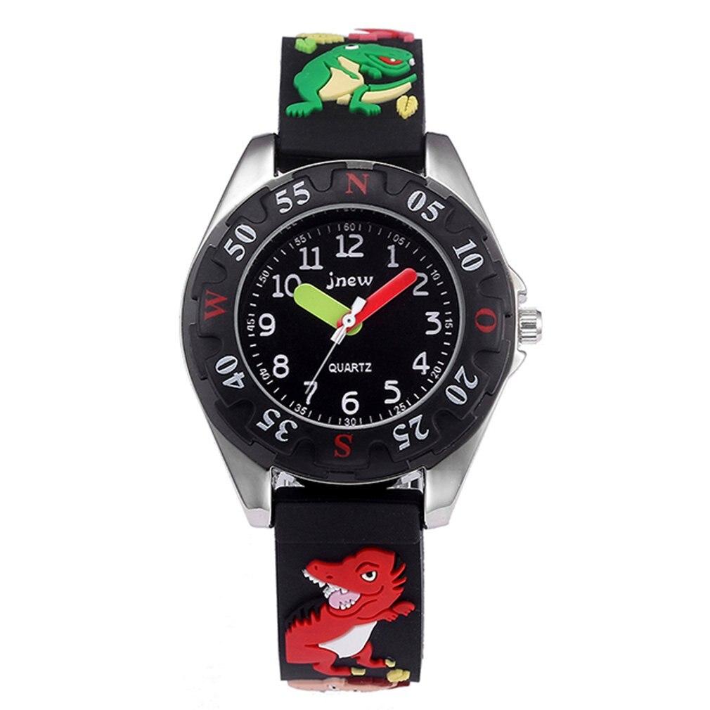 Children'S Cartoon Dinosaur Watch Waterproof Quartz Silicone Watch Girls Boys Children'S Watch 3D Silicone Strap