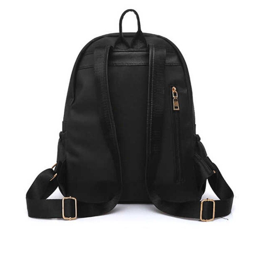 HTB1VEhda.jrK1RkHFNRq6ySvpXay 2019 Casual Oxford Backpack Women Black Waterproof Nylon School Bags for Teenage Girls High Quality Fashion Travel Tote Backpack