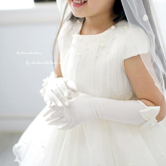 Married Glove Child Wedding Formal Dress Long Gloves Female Child