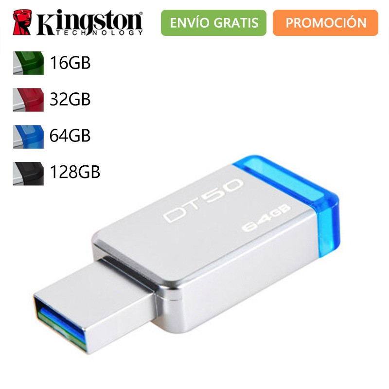 Original <font><b>Kingston</b></font> Technologie DataTraveler 50 DT50 16GB <font><b>32GB</b></font> 64GB 128 GB Memoria <font><b>USB</b></font> 3.0 16 32 64 128 GB-Stick Stick image