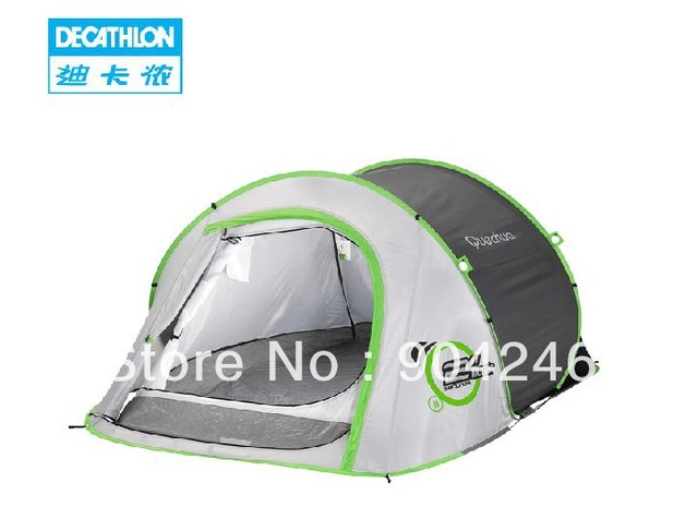 19562 Freeshipping Decathlon Outdoor Camping 2 Speed Automatic Two Seconds To Open Double Quick Opening Tent Lighting Quechua Dans Tentes De