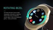 Ronda completa Bluetooth reloj Inteligente AS2 Reloj Bisel Giratorio con el Corazón monitor de ritmo MTK2502 para IOS Android PK G3 KW18 gear s2 s3