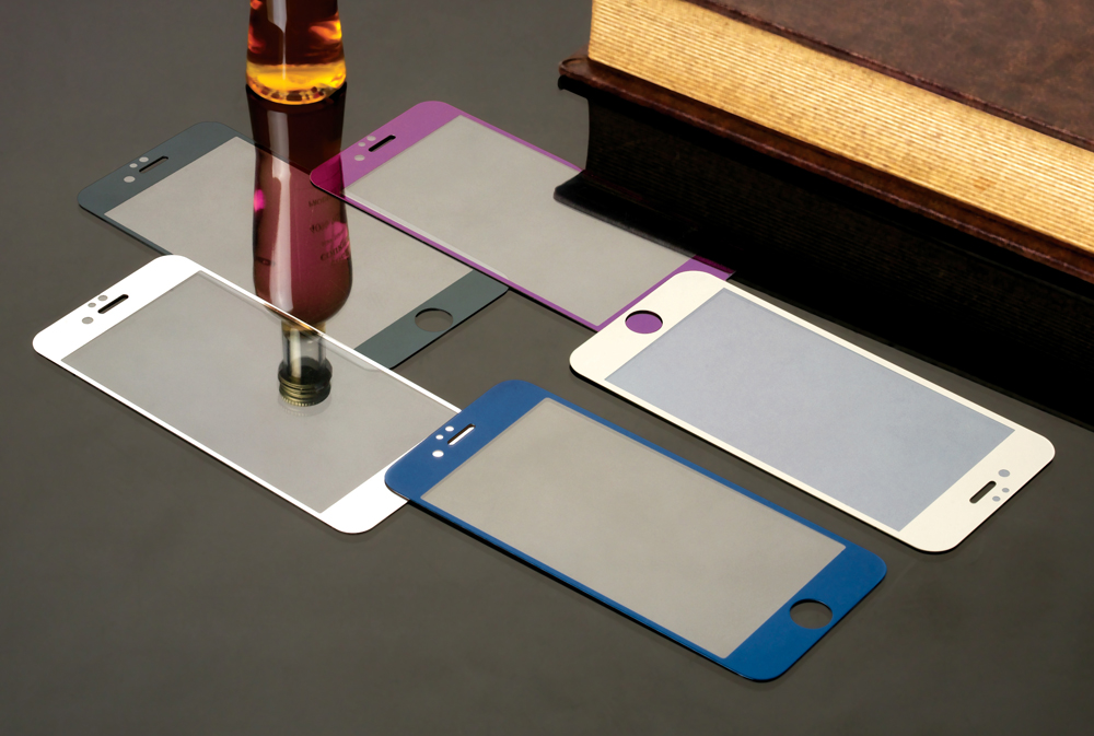 Colorful Tempered Glass Film For iphone 6 6S 6Plus Screen Protector Metal Plating Mirror Film 2PCS Front + Back
