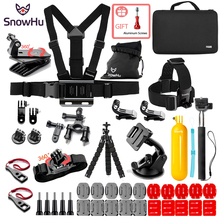 SnowHu For Action camera Gopro Accessories Head Strap Chest Harness Mount For Gopro Hero 7 6 5  SJ4000 xiaomi SJCAM EKEN H9 GS85 цена и фото