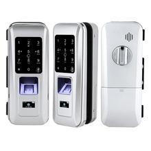 Glass Door Remote Control Anti-Theft Door Lock Keyless Electric Fingerprint Touch Keypad Gate Lock