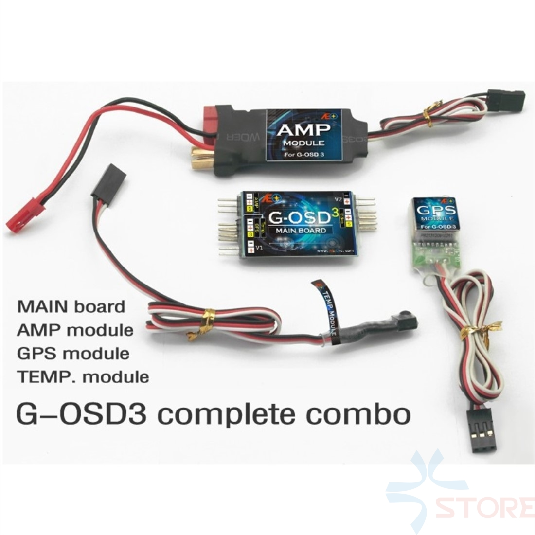 AEO G-OSD3 OSD FPV Display System Temp Mould and AMP Mould with GPS Current Temperature Sensors For Quad Hexa Octo
