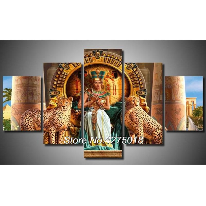 DIY Diamond Painting Cross Stitch Kit Full Diamond Embroidery 5D Square Diamond Mosaic Egyptian beauty and