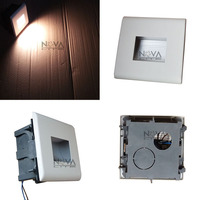 4pcs Diffused 2W Contemporary Square Window Hollow Concrete Wall Light Streamline Designer Class Stair Lighting LED