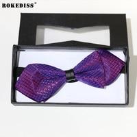 ROKEDISS 2017 패션 새로운 남성 정장 비즈니스 넥타이 매듭 정장 포켓 수건 정장 신랑 결혼 나비 나비 넥타이 여러