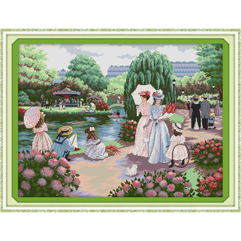 Everlasting love Christmas Outing  Ecological cotton Cross Stitch 11CT and 14CT Printed New store sales promotion