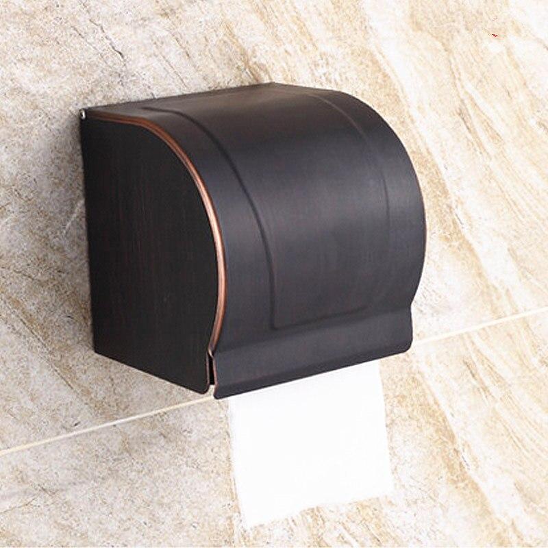 Wc Papier Zwart.Us 29 59 11 Off Retro Koper Handdoekenrek Brons Badkamer Planken Antieke Wc Papier Houders Zwart Badkamer Hardware Accessoires Sets J16547 In