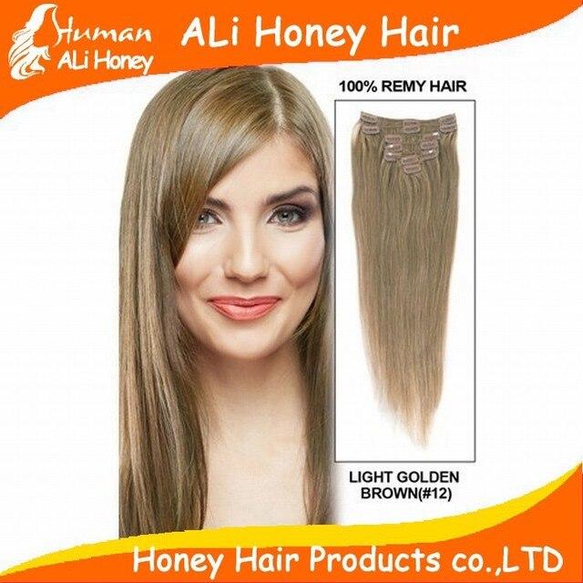 Aliexpress buy 10 24 virgin remy hair clip in brazilian 10 24 virgin remy hair clip in brazilian straight human hair extensions 7 pmusecretfo Choice Image