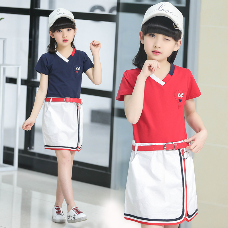 Roupas Infantis Menina Summer Girl Dress England Style Children Clothing Navy Red Japanese Kids School Uniform Dresses For Girls комплект одежды для девочек children clothing 2 roupas infantis menina