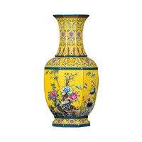 Jingdezhen Керамические Античный эмаль напольная ваза имитация Цяньлун большая ваза китайские антикварные гостиной украшения