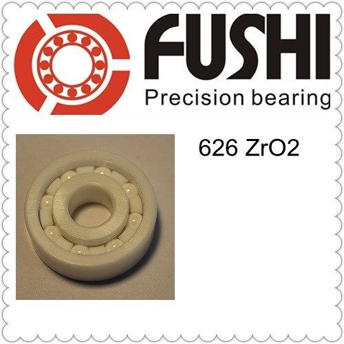 1 PC 626  Full Ceramic ZrO2  6x19x6 6mm/19mm/6mm ZrO2 Ceramic Ball Bearing