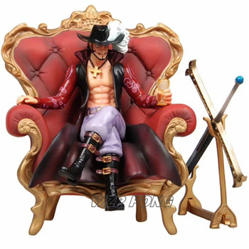 23cm One Piece Dracule Mihawk Sitting Form Figurine Dolls Toy PVC Hawk Eye Action Figure Model Collectible Gift Toys