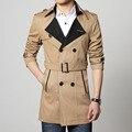 Homem blusão, aumentar o tamanho da juventude pure color manga comprida trench coat moda masculina, juventude lapela do revestimento do revestimento, 6 xl