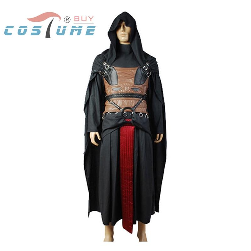 Traje de guerra de las galaxias Darth Revan Cosplay Disfraz Jedi Robe - Disfraces