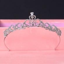 Ар-Деко Серебряный Прозрачного Хрусталя Стразами CZ Кубического Циркония Свадьбы Тиару Свадебный Королева Принцесса Pageant Crown