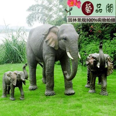Villa Garden Ornaments Outdoor Simulation Animal Sculpture Landscape Design Sketch Lucky Elephant Crafts