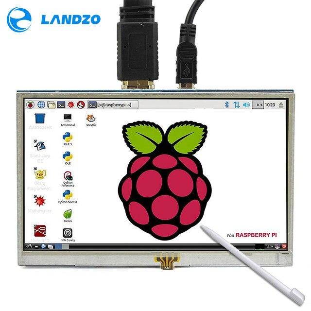 5 Inch LCD HDMI Touch Screen Raspberry Pi 3 Display LCD HDMI Monitor 800*480 for Banana Pi Raspberry Pi 3 / 2 Model B / B+