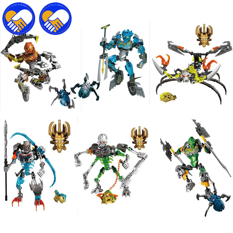 A TOY A DREAM XSZ 707-3 Bionicle CALI master of Water XSZ Building Block Bricks Toys Monster Figures Sets BABY TOYS цена