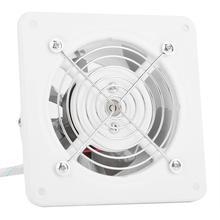25 Вт 220V вентилятор вытяжной настенный 4 дюйма Вытяжной вентилятор низкая Шум дома Ванная комната Кухня гараж, устанавливаемое на вентиляционное отверстие в салоне автомобиля вентиляции