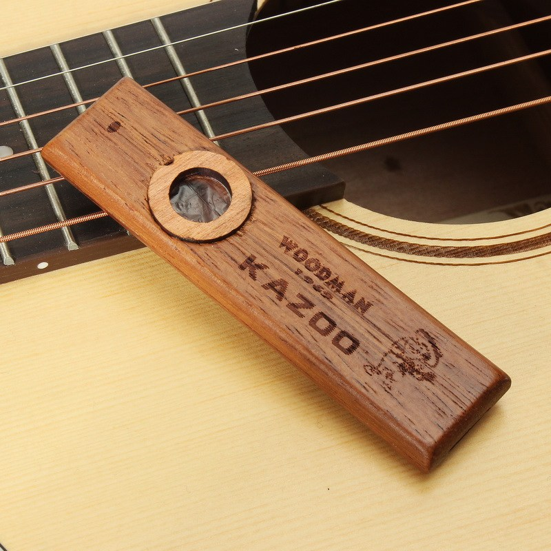 Kazoo Holz mit Membran Metall-Box für Musik-Player Kinder Spielzeug