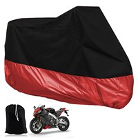 TARP COVER MOTO Motorcycle Cover Scooter Bike ATV 245cm Size XL Black Red Protection