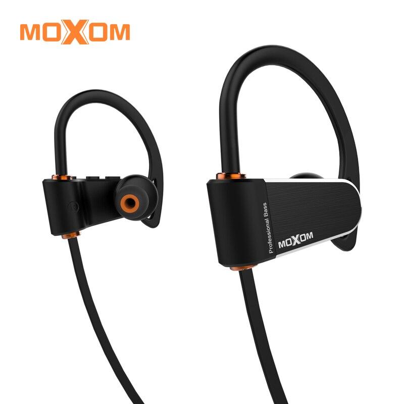 MOXOM auriculares Bluetooth estéreo inalámbricos 4,1 IPX7 impermeable deportes auricular del gancho del oído con el Mic para el iPhone 5 6 7 8 samsung