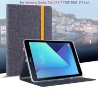 Tab S3 T820 9.7 pollice Jean Caso Astuto di Cuoio Del Basamento di Protezione pelle Per Samsung Galaxy Tab S3 9.7 T820 T825 Tablet Copertura Fundas