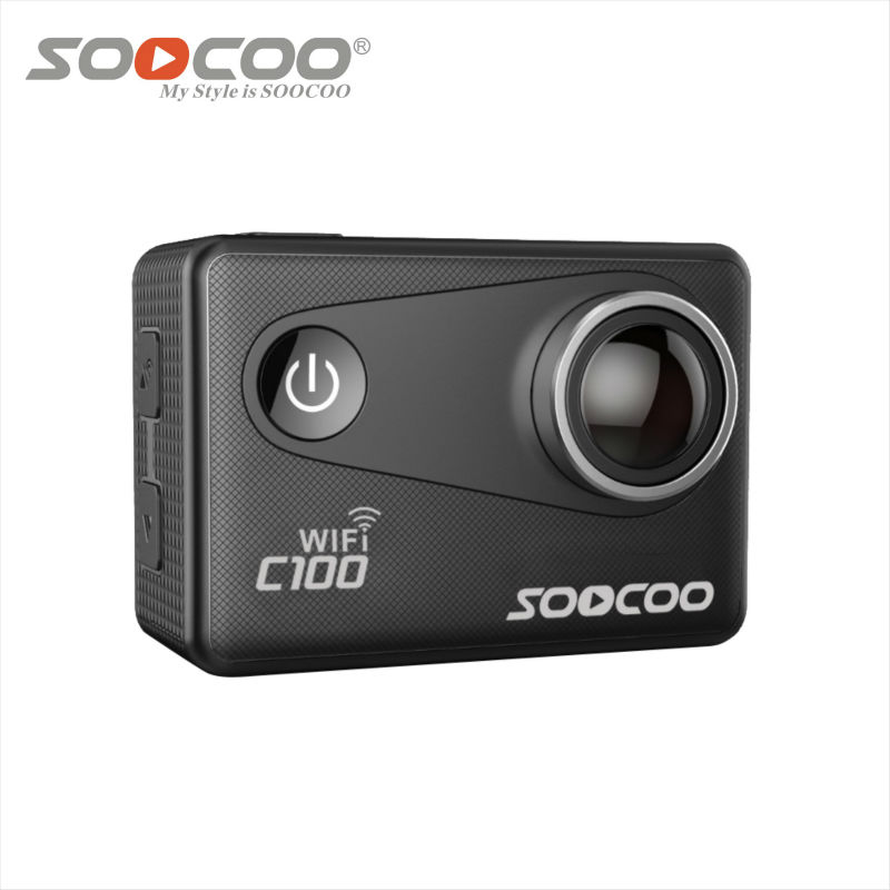 SOOCOO C100 4K Wifi Action Sports Camera Built-in Gyro with GPS Extension 1080P 60fps 1.5 LCD 170D go sport waterproof pro came genuine soocoo c30 4k 24fps wifi action sports camera built in gyro 170 degrees lens 2 0 lcd ntk96660 30m waterproof dv