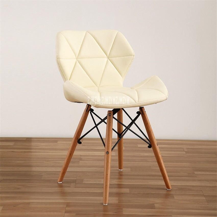 Деревянная ножка стул отдыха Современный Креативный Гостиная кресло для отдыха простая Бытовая Кофе обеденный стул спинка офисного компьютерное кресло - Цвет: A