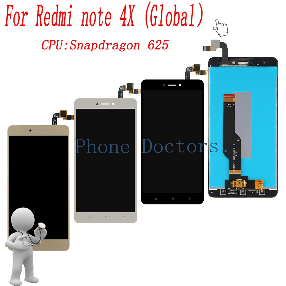 5.5'' Full Touch Screen Digitizer Glass + LCD Display Assembly For Xiaomi Hongmi Note 4X / Redmi Note 4x MBT6A5