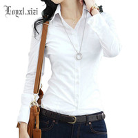 New Fashion women shirt blouse slim ol long sleeve white female spring and autumn,ZY0003
