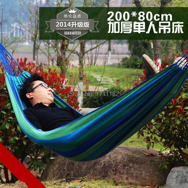 280*80cm Single Person Bearing 150kg Outdoor Camping Garden Swing  Thickening Large Casual Canvas Baby