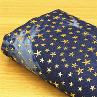 2018 Sale African Fabric Tecidos Patchwork Free Shipping Bronzing Jeans Cloth Stars Hand made Art Of Diy Suit Tie dyed S Fabric