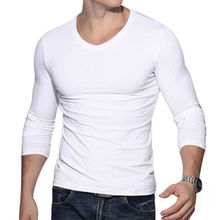 New Fashion Men Muscle Long Sleeve Slim T-Shirts O-neck Casual Skinny Fit T-shirt Tee Top Stylsh Mens Clothes