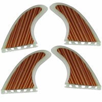 Performance Core Wood Veneer Thruster (4 fin set) Future Base G5 Size Surfboard Fins